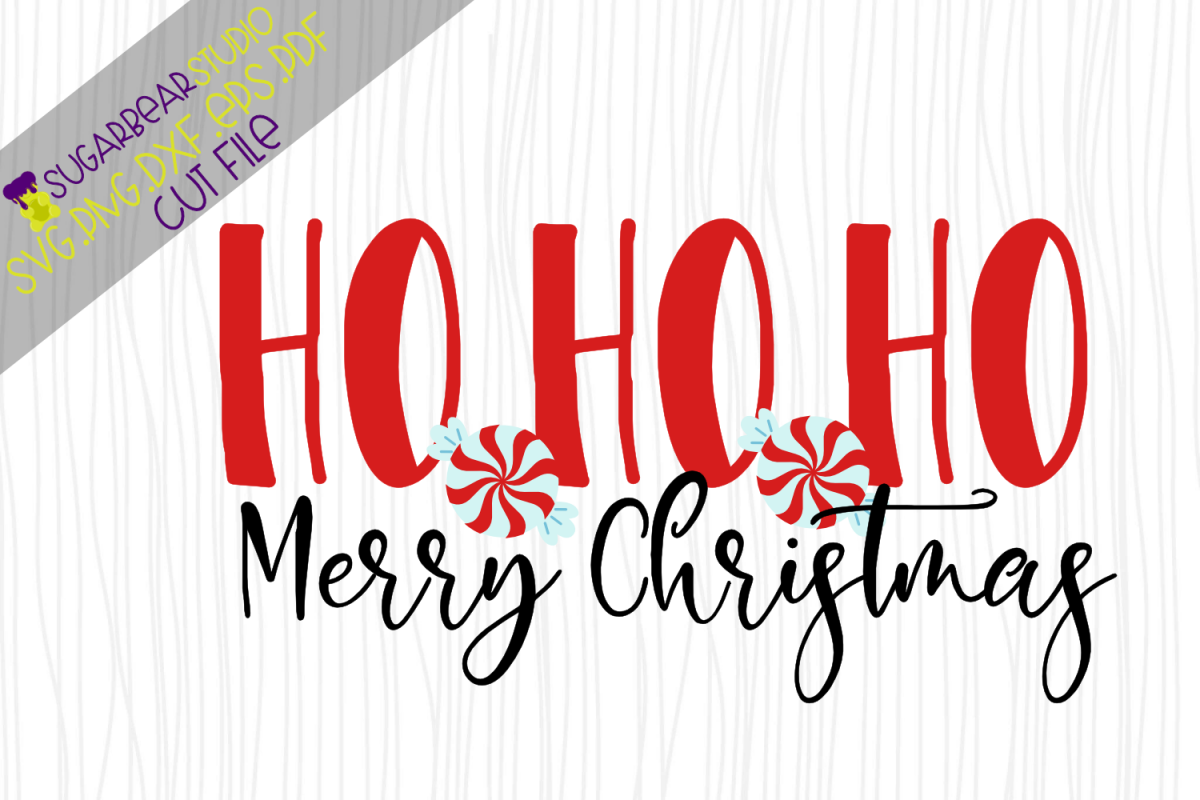Ho Ho Ho Merry Christmas.Ho Ho Ho Merry Christmas Svg