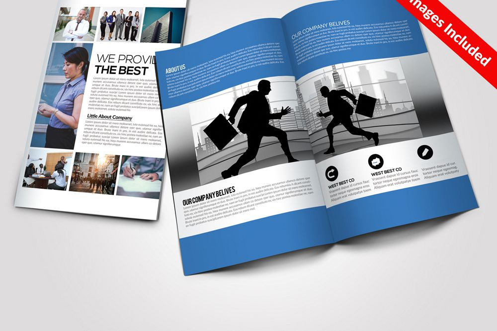 Corporate Bi Fold Brochure Templates