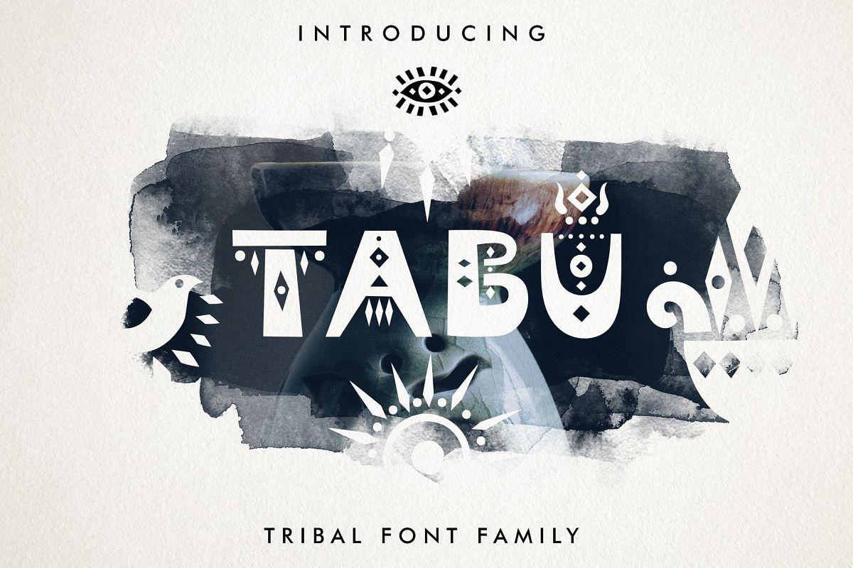 Tabu - Tribal Font Family example image 1