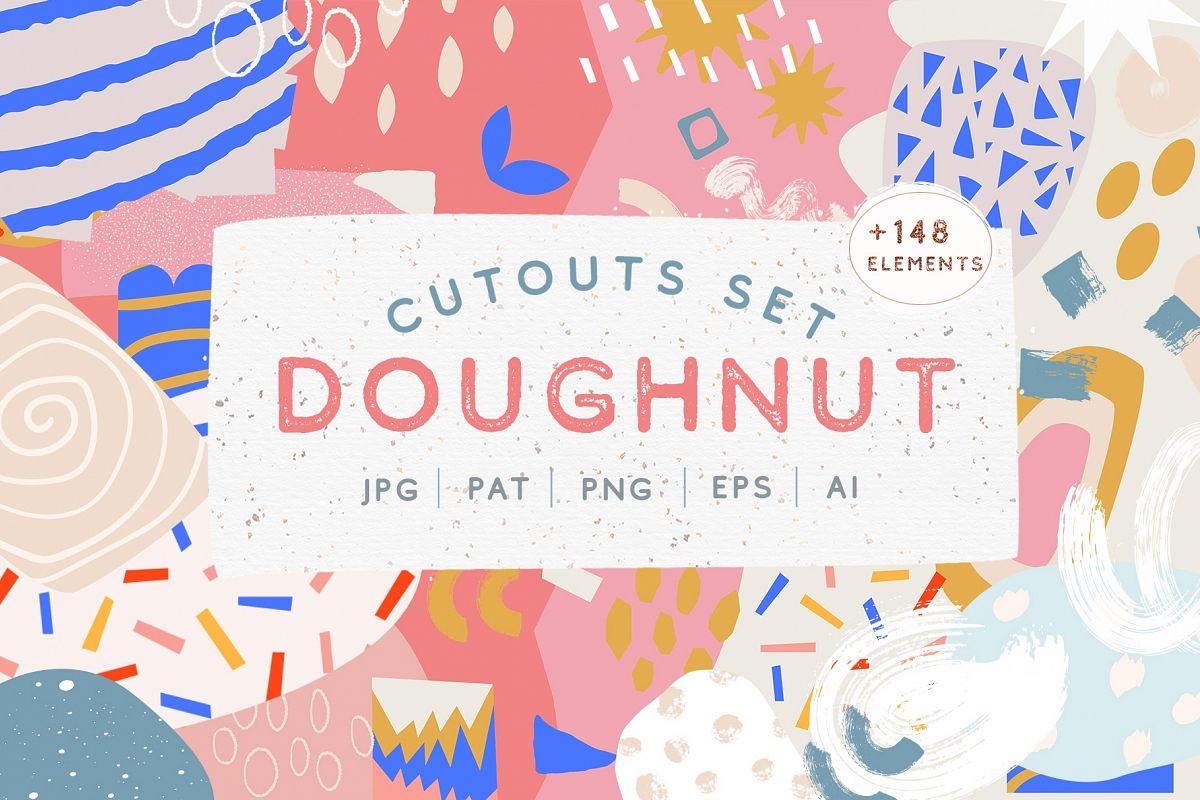 Doughnut Cutouts Set example image 1