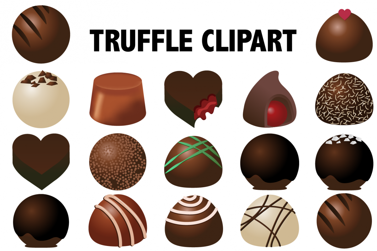 Chocolate Truffles Clipart example image 1