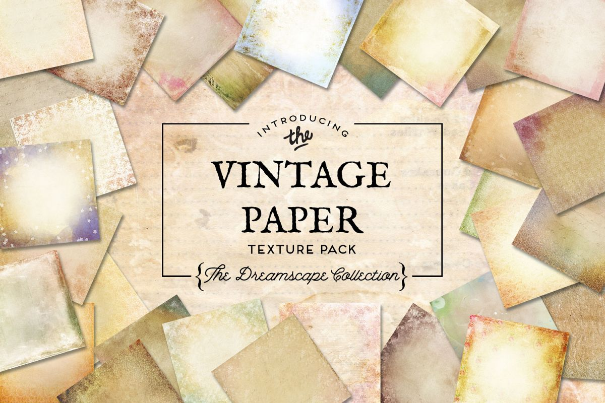 Vintage Paper Textures Dreamscape Collection example image 1