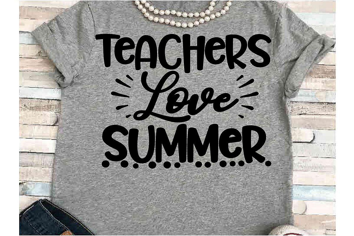 aeb79ad5 Teacher SVG DXF JPEG Silhouette Cameo Cricut Love summer example image 1