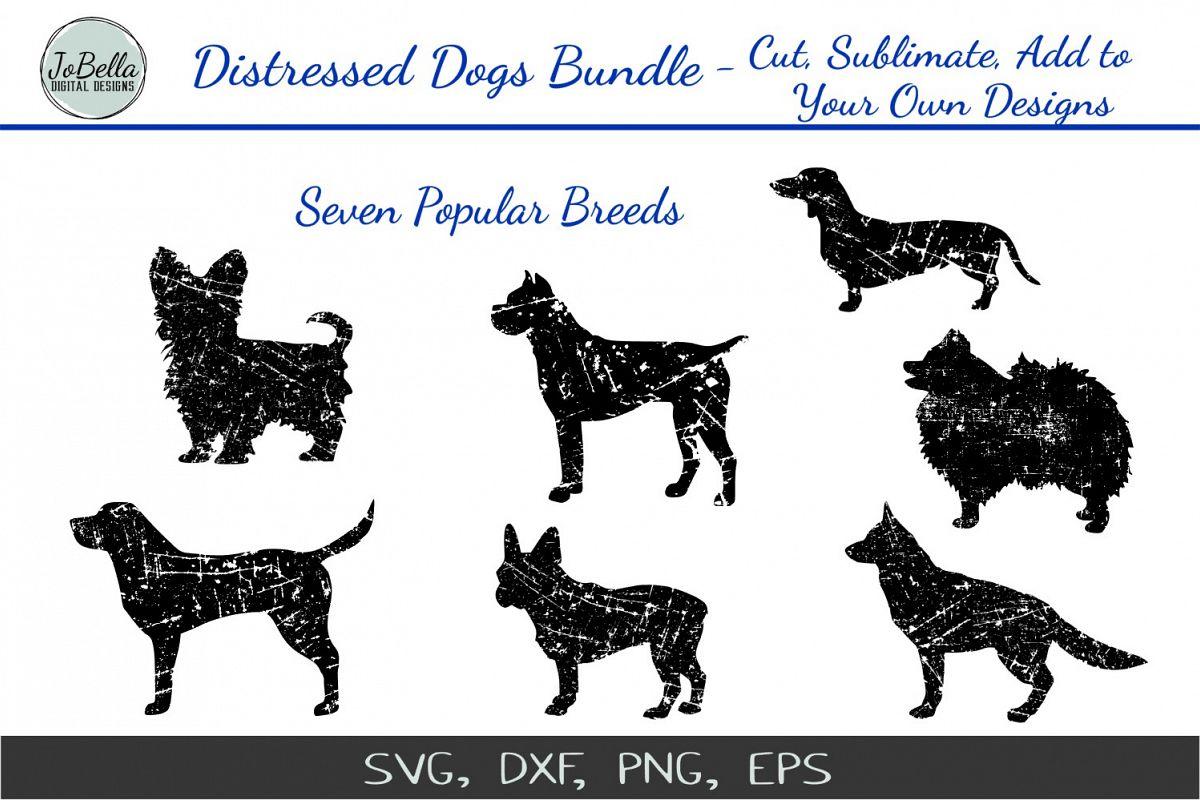 Distressed Dogs Bundle - Popular Dog Breed Grunge Designs example image 1