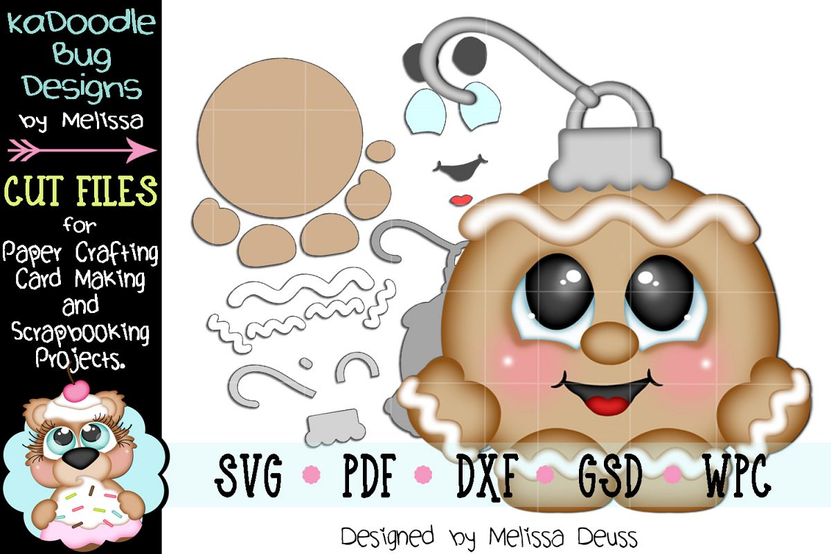Ginger Boy Ornament Cutie Cut File - SVG PDF DXF GSD WPC example image 1