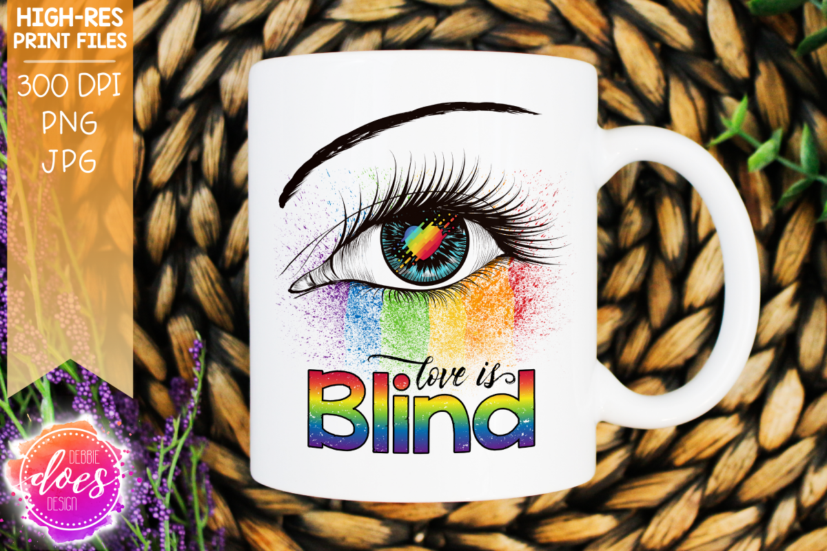 Love is Blind - Pride Eye - Printable Design example image 1