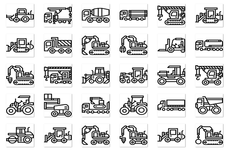 Construction vehicle linear example image 1