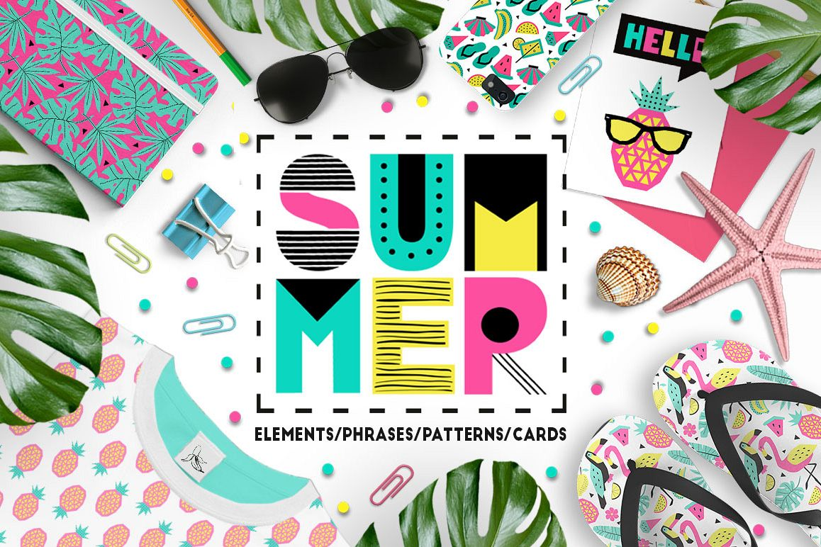 Summer graphic collection example image 1