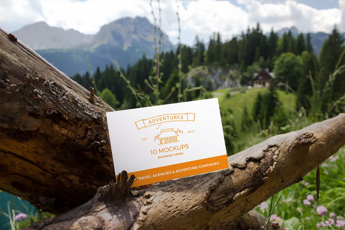Business cards mockup 05| Travel Mockup Collection Set 1 example image 1