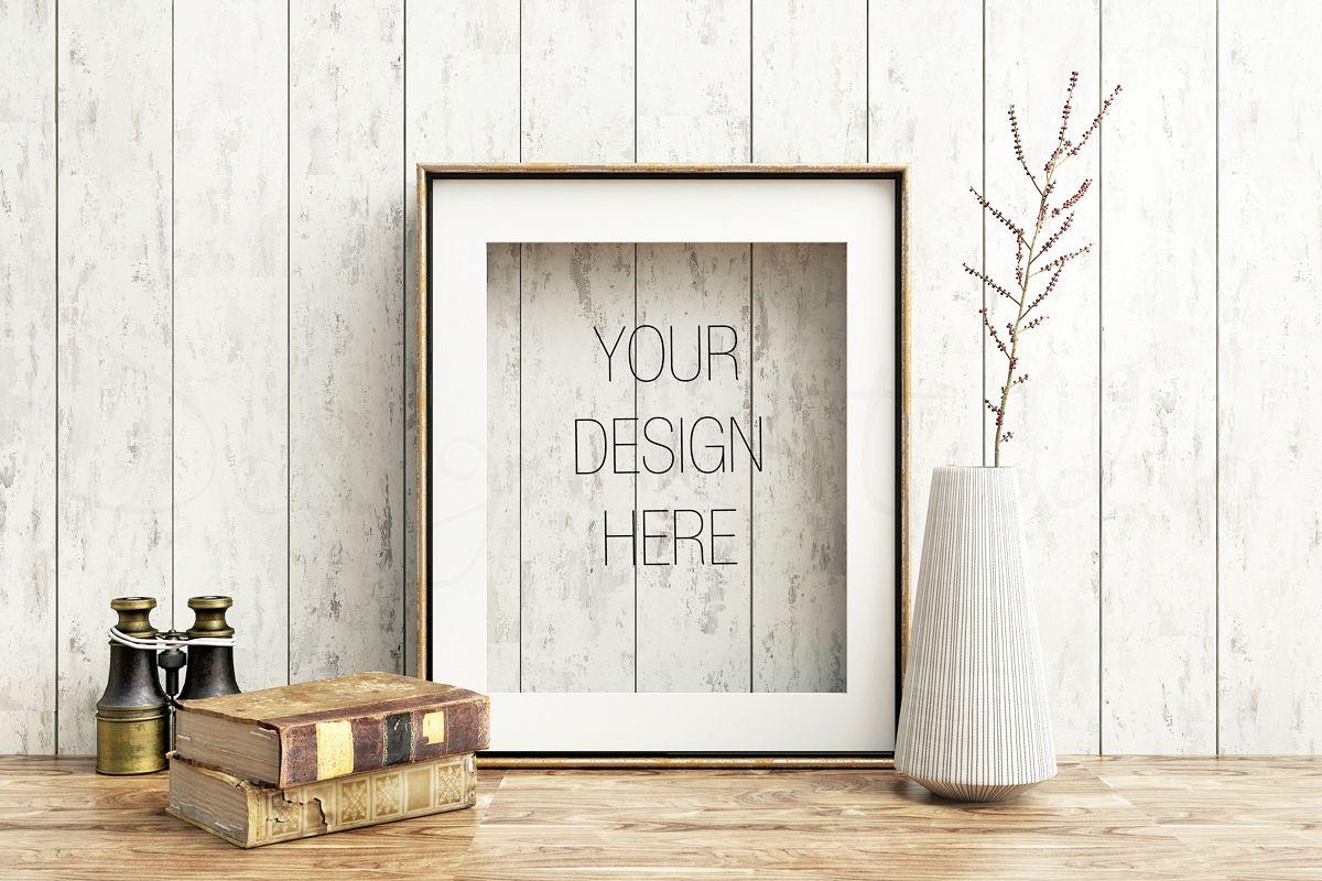 Styled Stock Photography, Frame Mockup, Gold Frame mockup, Styled Photography Mockup, stock photo example image 1