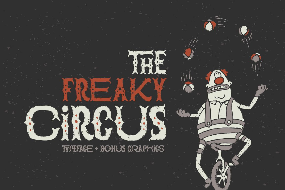 The Freaky Circus font example image 1