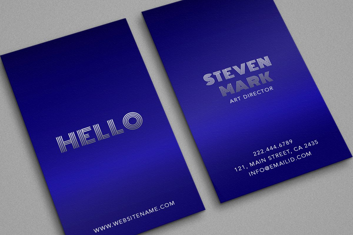 Blue colour classy metal steel looks royal example image 1