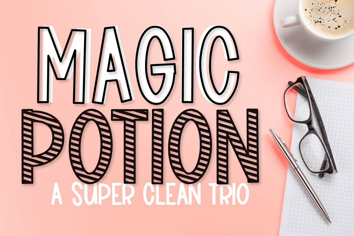 Magic Potion - A Super Clean Font Trio example image 1