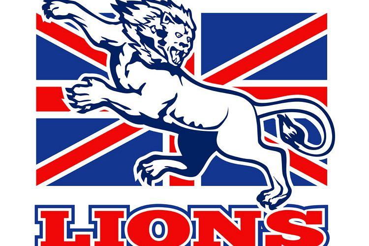 Lion attacking GB British union jack flag example image 1