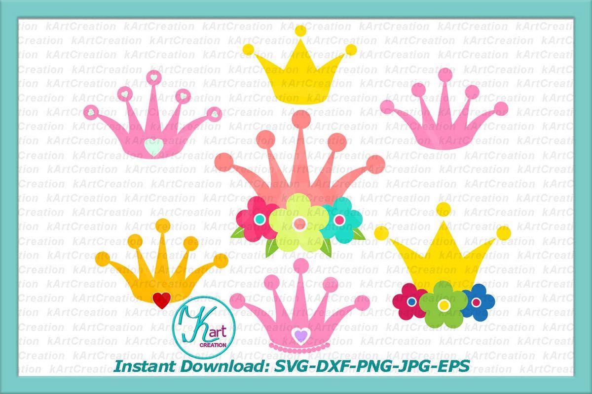 Flower crown princess. Crowns with flowers bundle