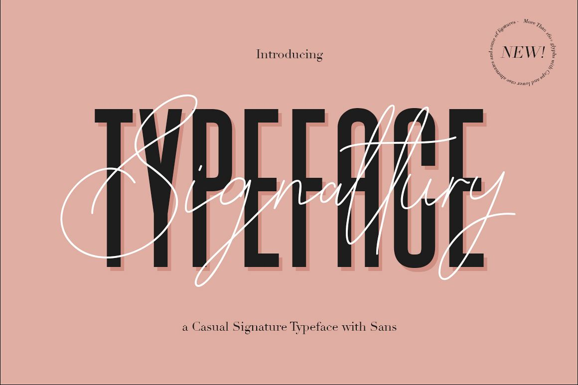 Signattury Signature Font - Free Sans example image 1