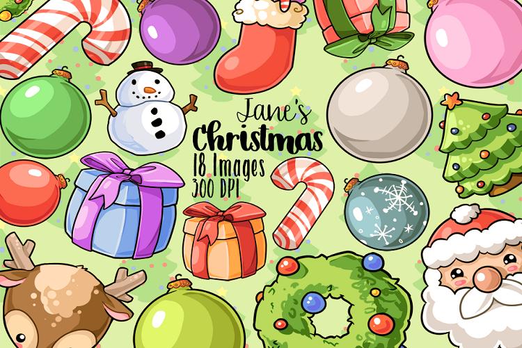 Kawaii Christmas.Kawaii Christmas Clipart