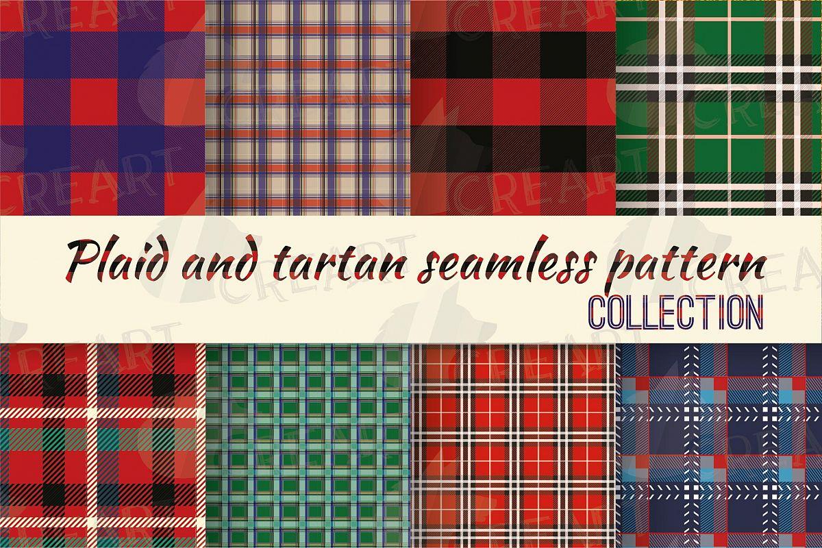 Plaid >> Tartan Plaid Seamless Digital Patterns Christmas Texture