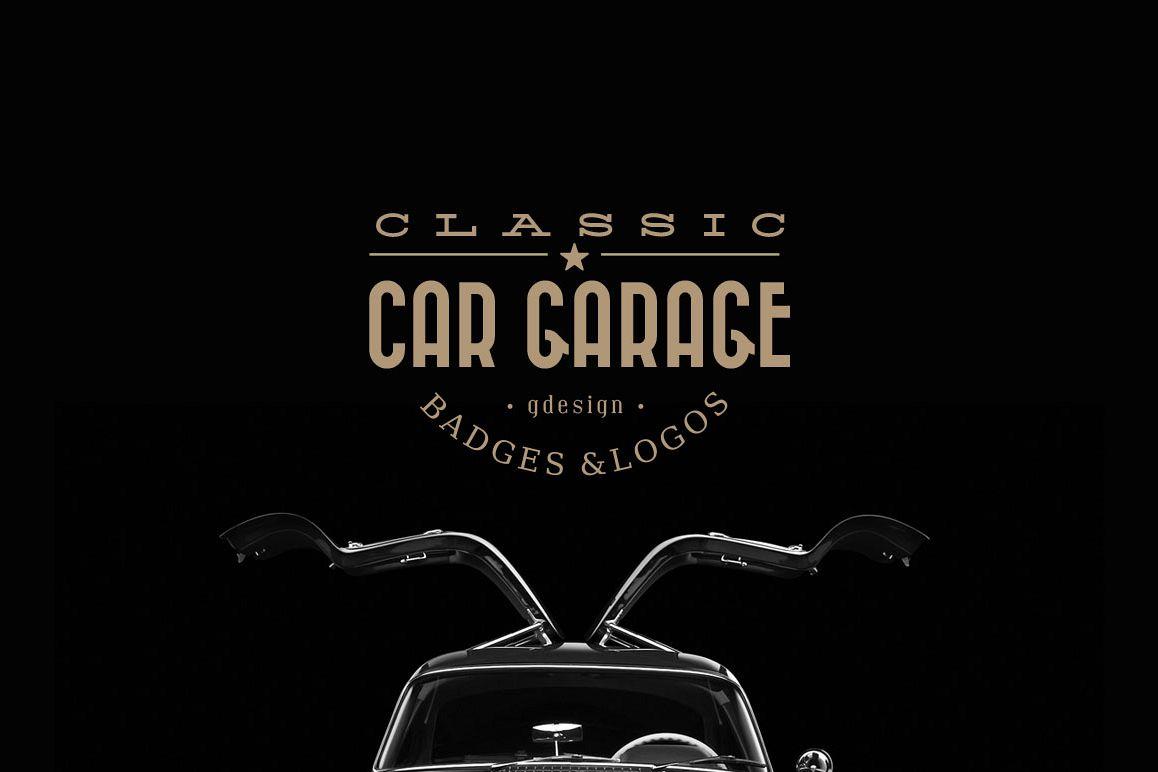 Classic Car Garage Badges & Logos example image 1