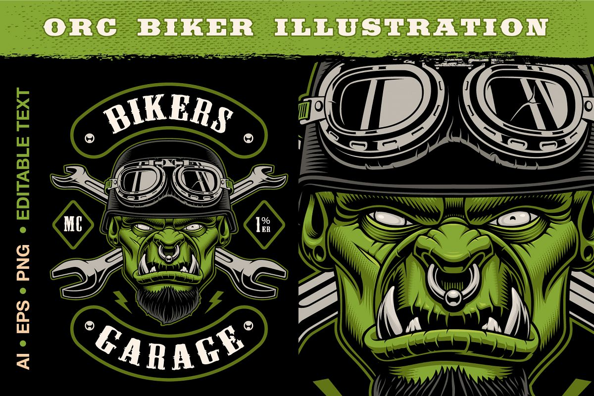 Orc Biker Character example image 1