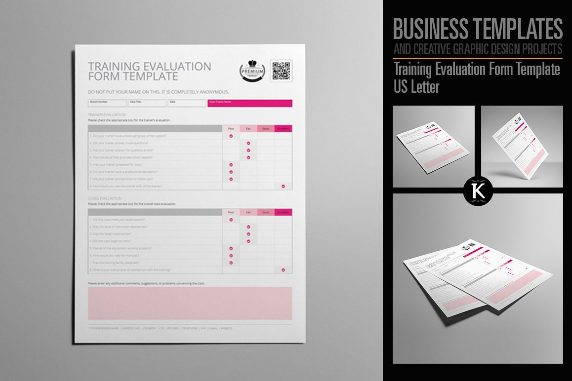 Training Evaluation Form Template US Letter example image 1