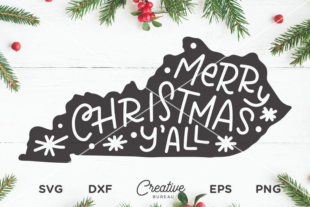 Merry Christmas Yall.Kentucky Christmas Svg Merry Christmas Yall Svg