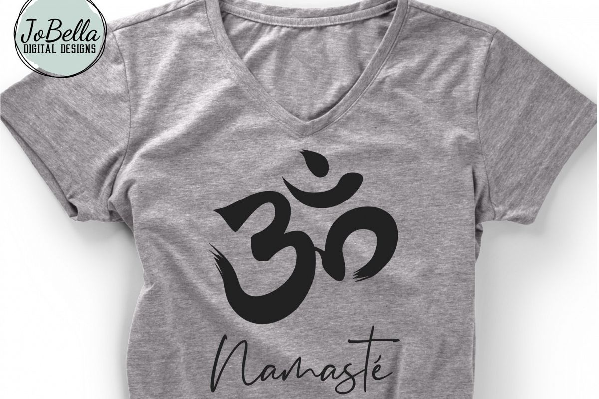 Om With Namaste SVG, Sublimation PNG & Printable Boho Design example image 1