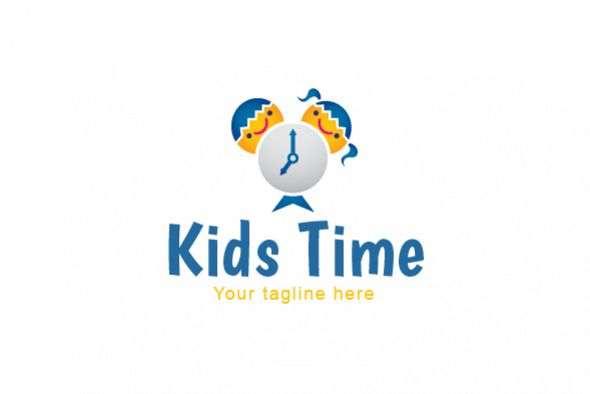 Kids Time - School Kids Stock Logo Template example image 1