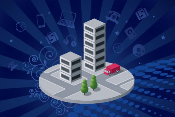 City vector isometric Illustrations example image 1