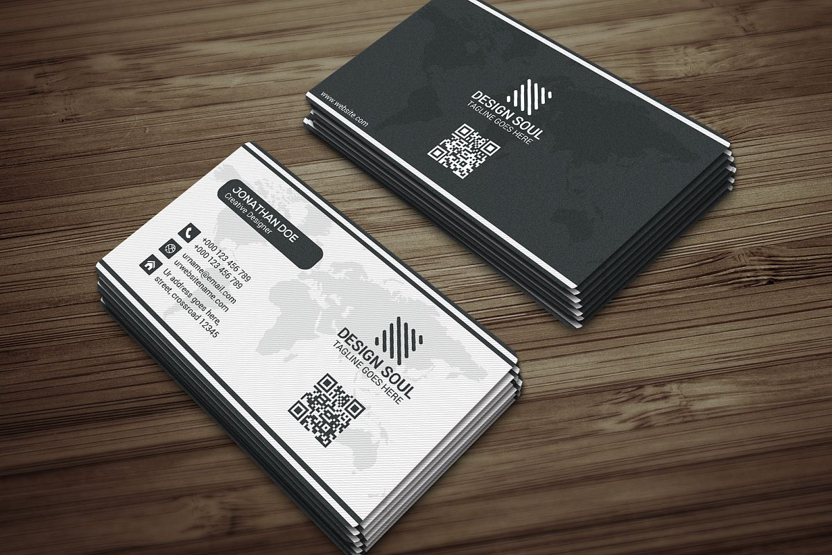 Modern business card by jahanzaib alam design bundles modern business card example image reheart Image collections