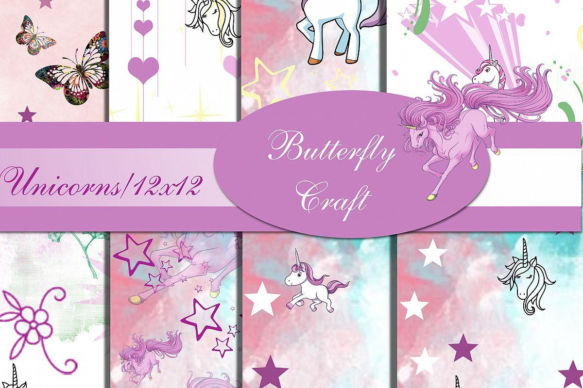 Unicorns Digital Paper Scrapbook Unicorn Paper Unicorn Pattern