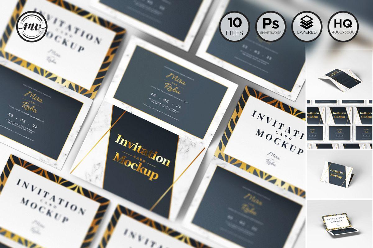 Invitation Card Mockups V1 example image 1