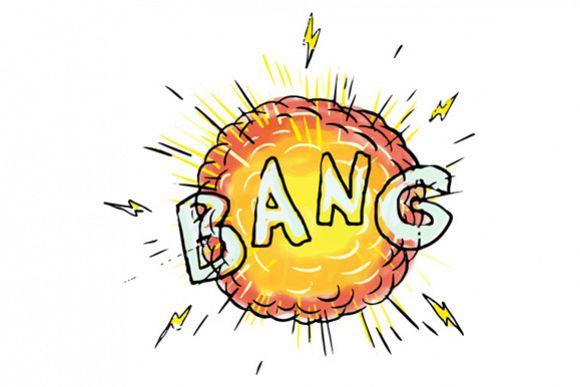Explosion Bang Cartoon example image 1