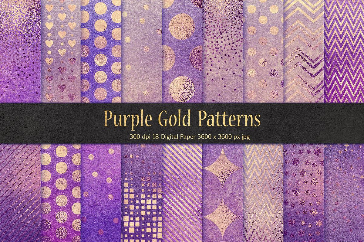 Purple Gold Pattern & Textures example image 1
