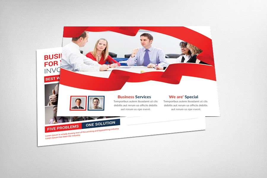 Smart Business Postcard Template example image 1