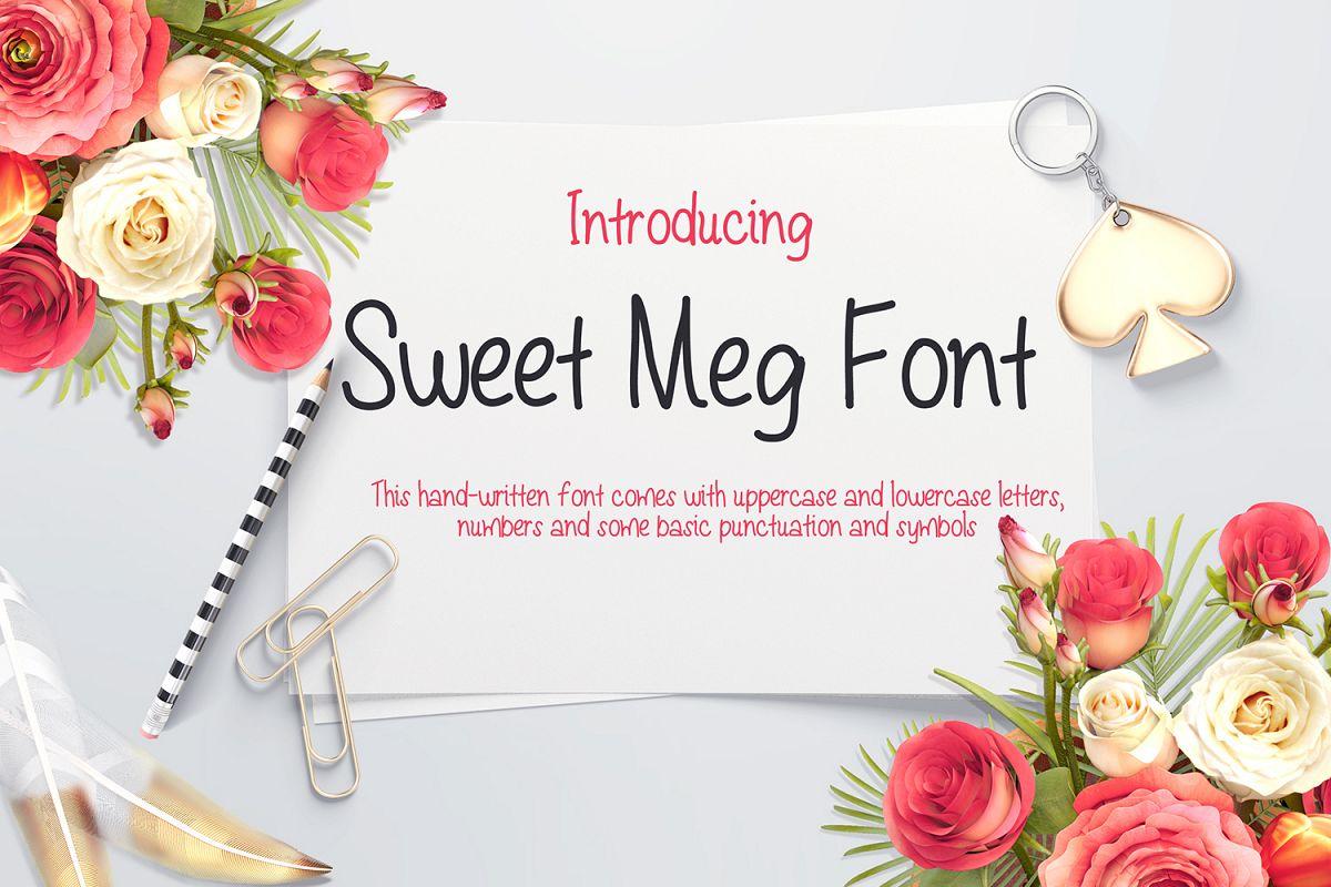 Sweet Meg - a Handwritten font example image 1