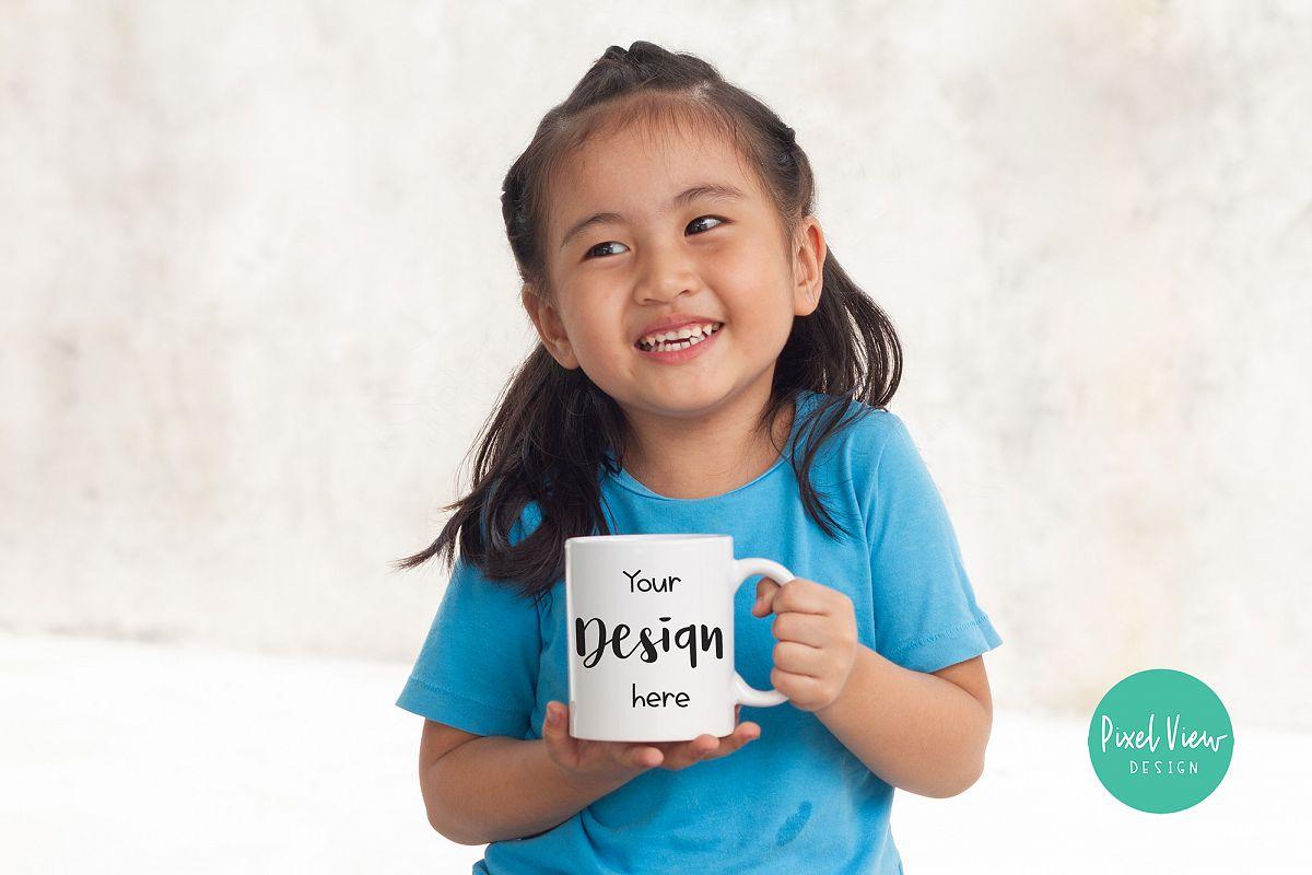 Girl Holding Mug_Mock-up example image 1
