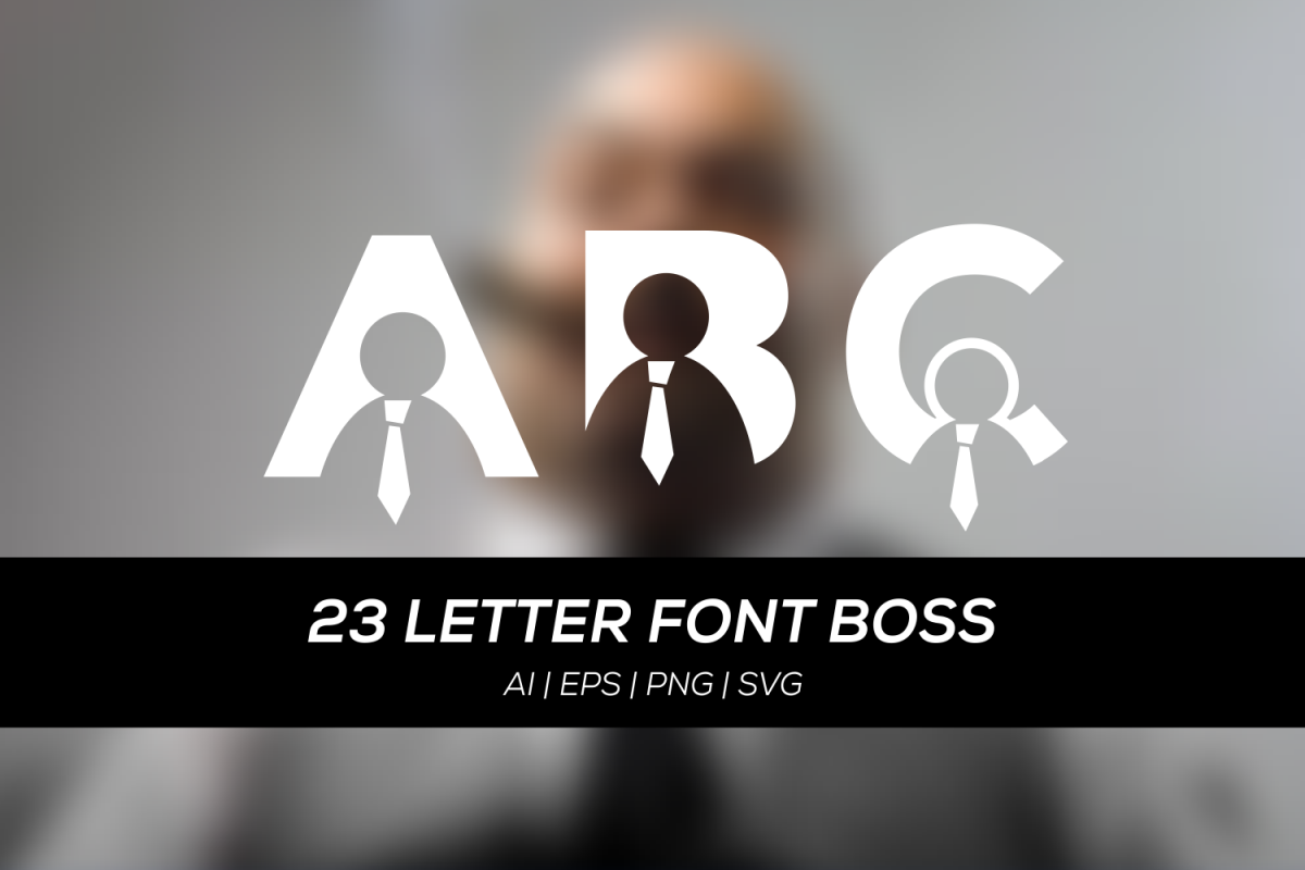 23 letter font with boss example image 1