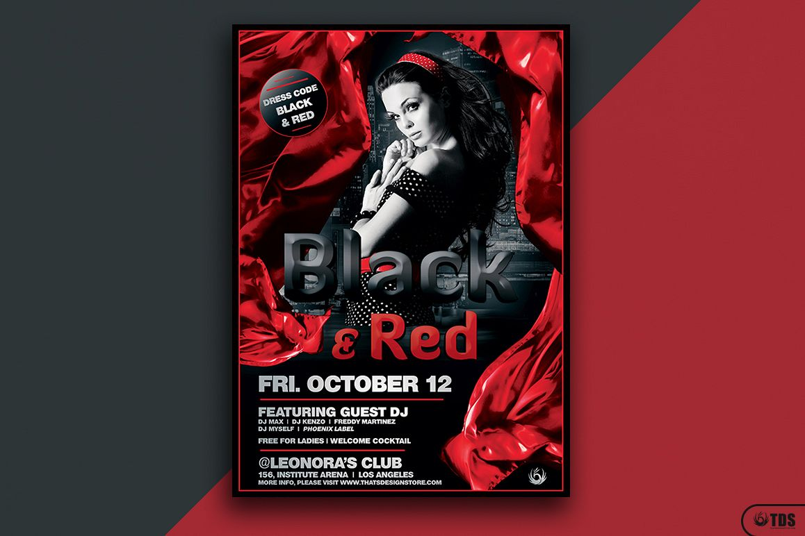 Black and Red Flyer Template V2 example image 1