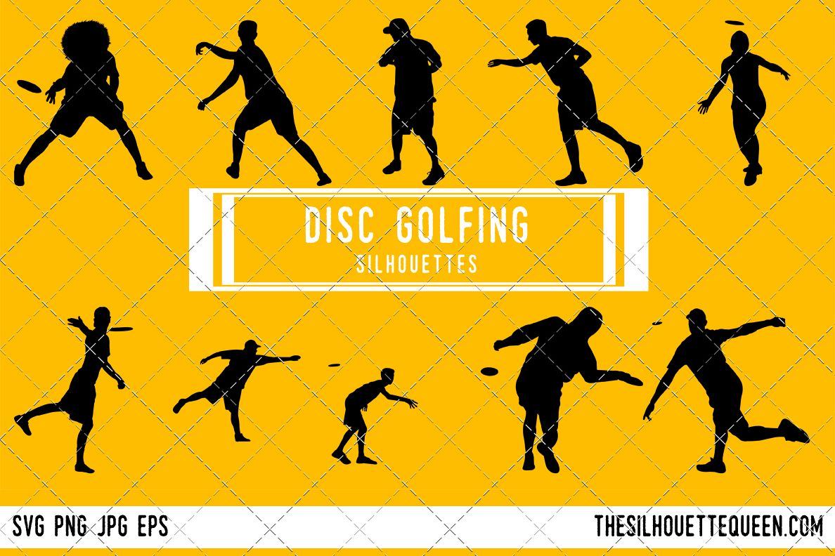Disc Golf Silhouette Disc Golf Clipart Disc Golf Sports Vector