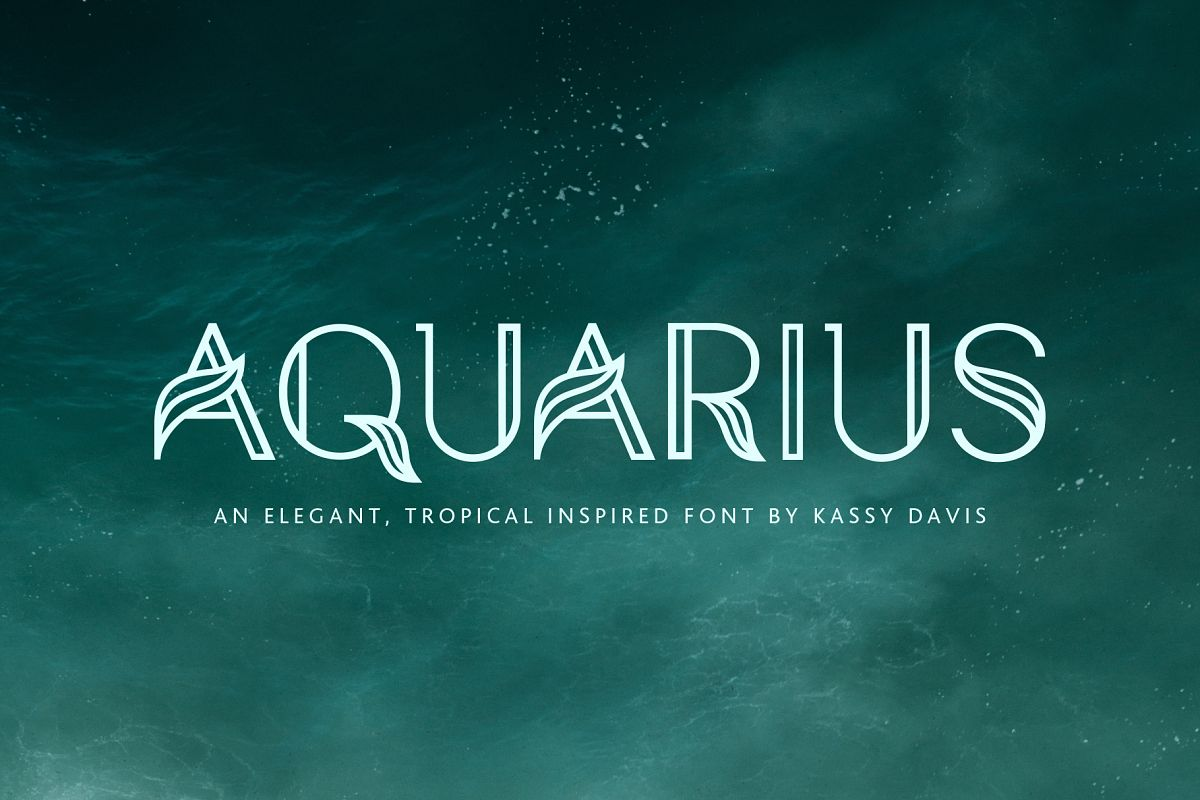 Aquarius - A Tropical & Elegant Font Family example image 1