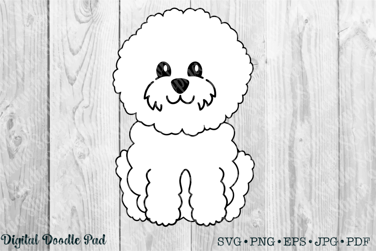 Cute Bichon 01 by Digital Doodle Pad example image 1