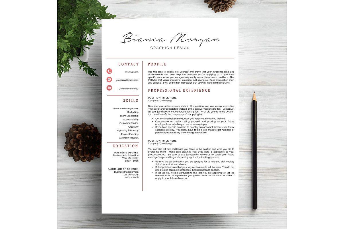 Creative Resume Template CV example image 1