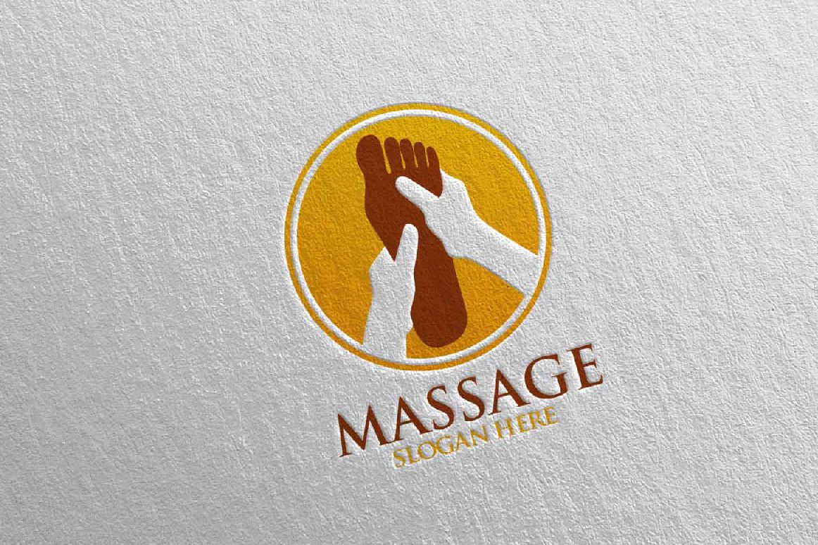 Massage Logo Design 5 example image 1