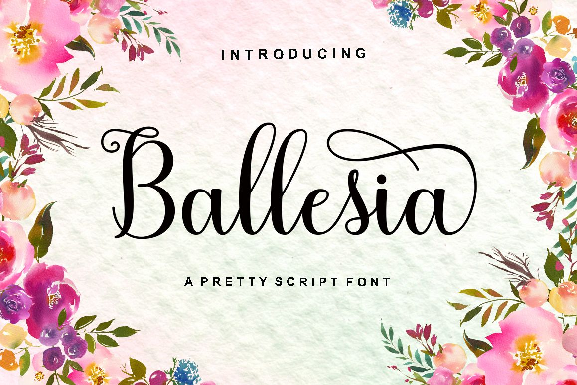 Ballesia Script example image 1