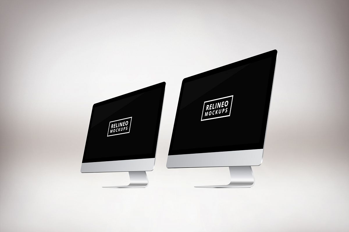 Apple iMac Mock-up #7 example image 1