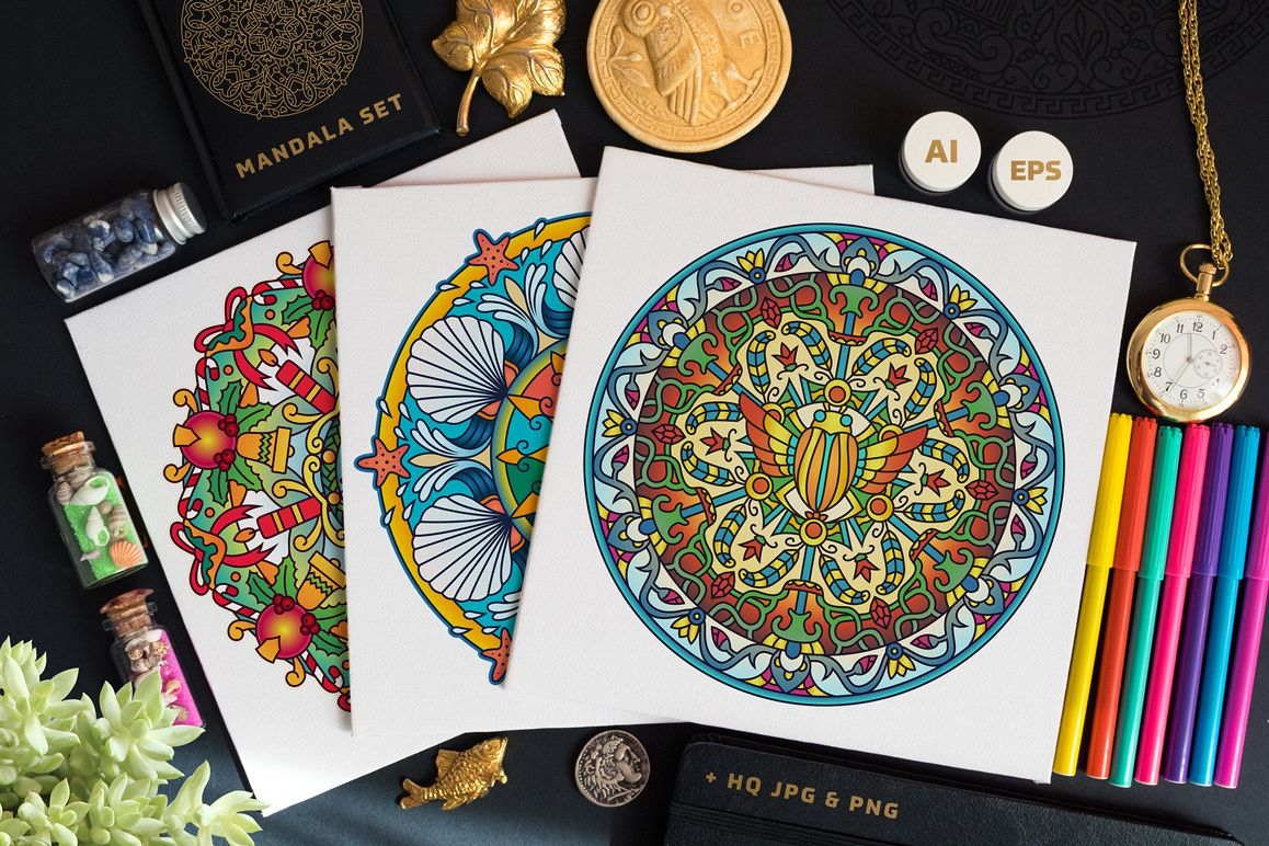 Seasonal and Holiday Mandalas example image 1