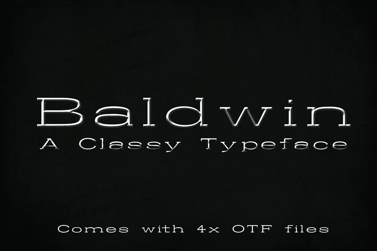 BALDWIN - A classy typeface example image 1