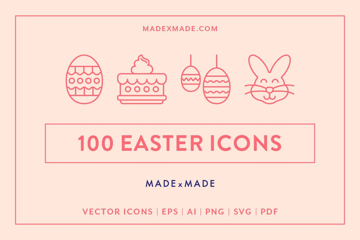 Line Icons  Easter example image 1