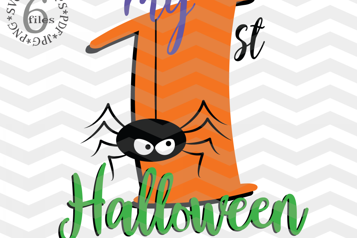 My 1st Hallowen - Halloween svg cutting files example image 1